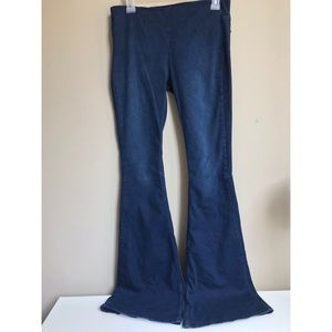 Free people Bell bottom elastic waisted jeans
